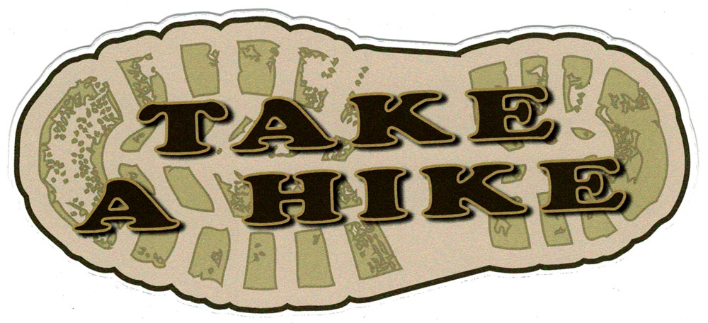 Take A Hike Small Bumper Sticker Decal 6 Quot X 2 5
