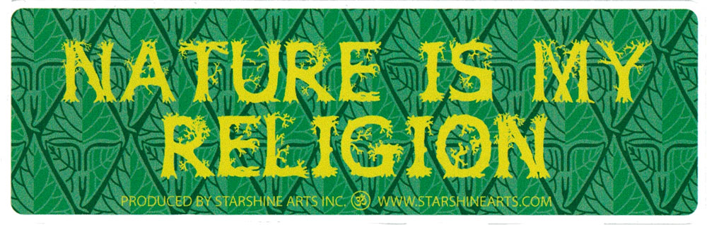 Nature Is My Religion Small Bumper Sticker Decal 55 X 175