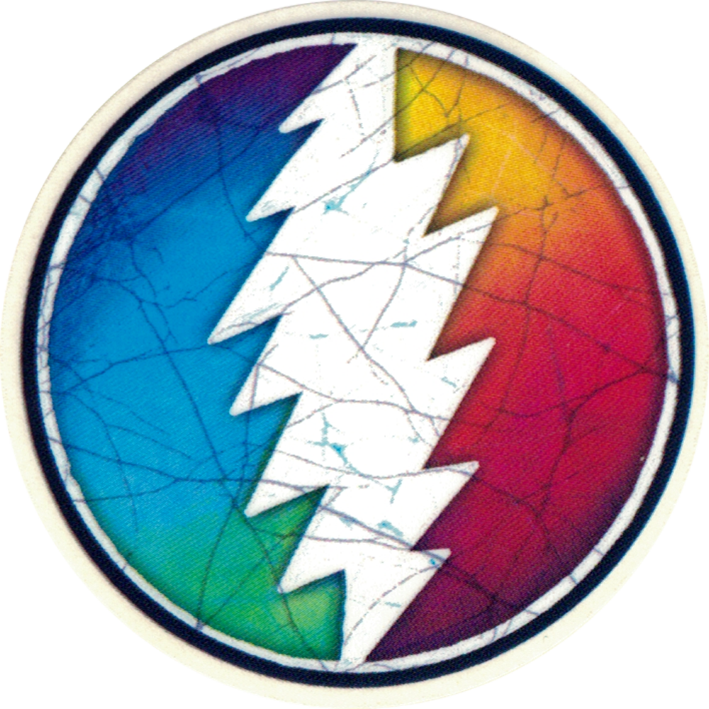 Grateful Dead Rainbow Lightening Bolt Small Bumper