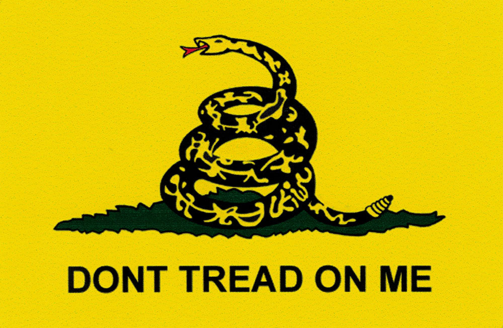 Don T Tread On Me Small Bumper Sticker Decal 3 5 Quot X 2