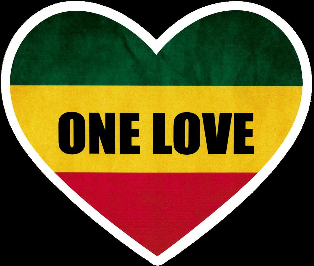 One Love Heart Small Bumper Sticker Decal 4 Quot X 3 5