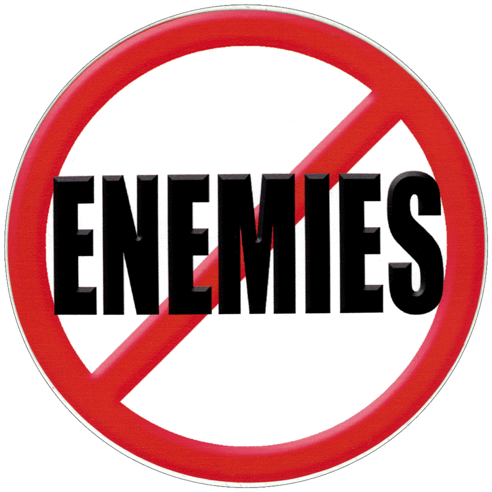 No Enemies Small Bumper Sticker Decal 3 Quot Circular