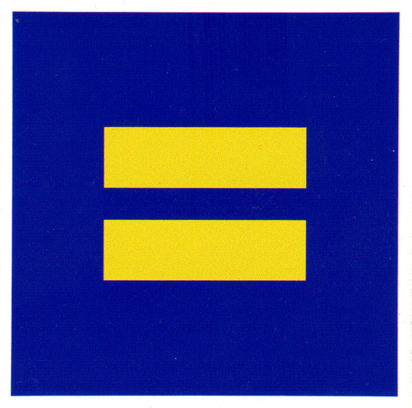 Equal right sign small bumper sticker decal 3 5 x 3 5