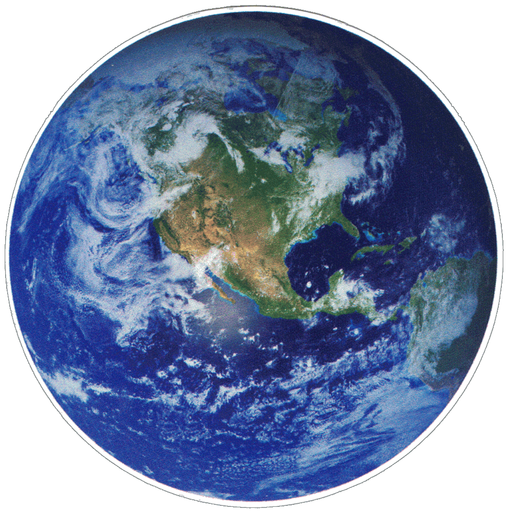 Earth Small Bumper Sticker Decal 3 Quot Circular Peace