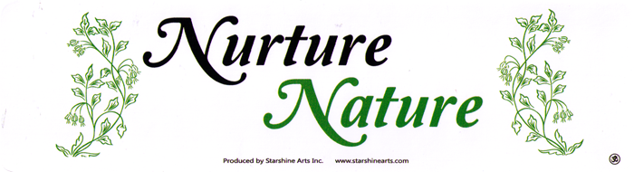 Nurture nature small bumper sticker decal 5 5 x 1 75
