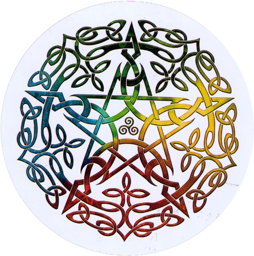 Elemental Celtic Pentacle Bumper Sticker Decal 4 5