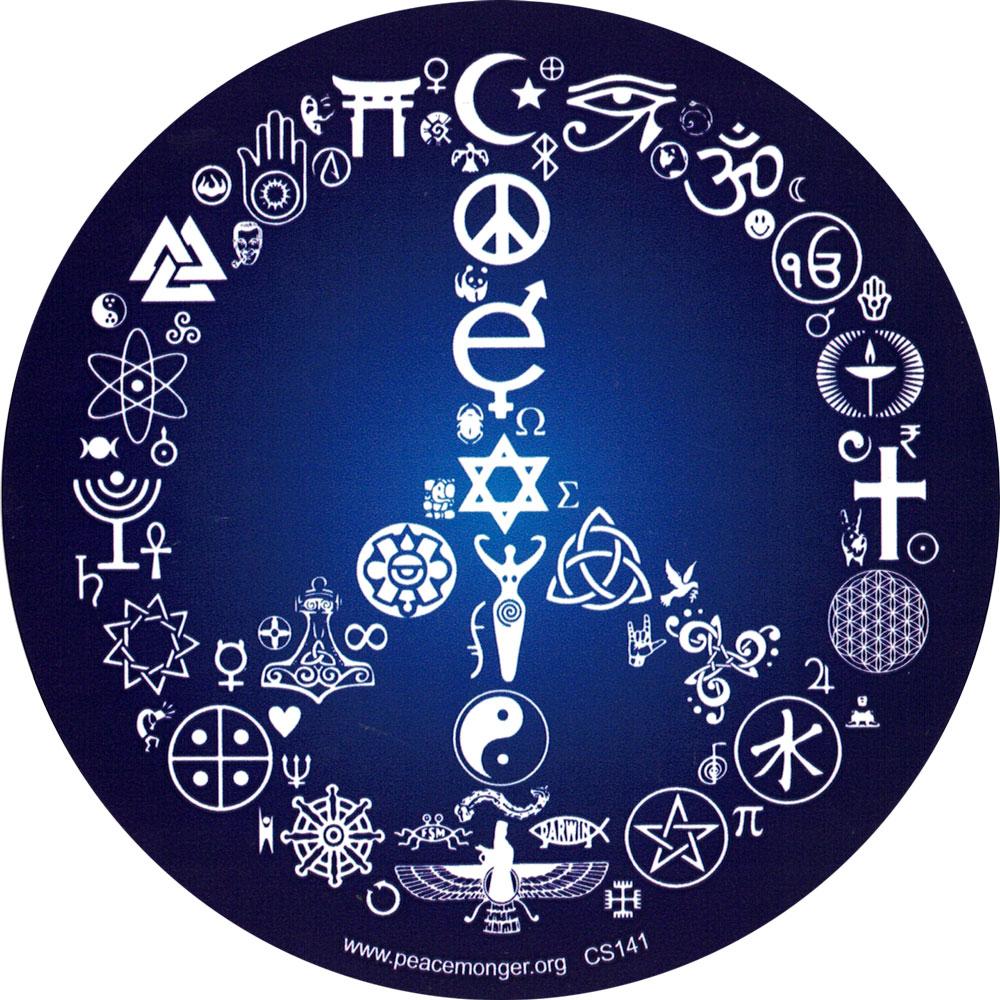 Coexist Peace Sign Bumper Sticker Decal 5 Quot Circular