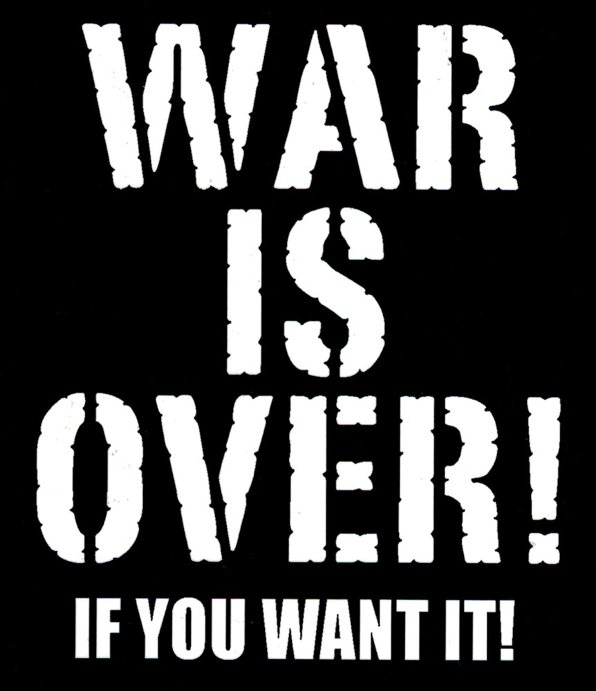 war is over  if you want it   decal  3 75