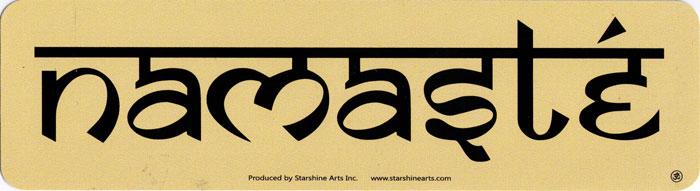 Namaste bumper sticker decal 9 x 2 25