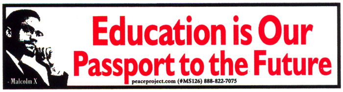 Education is our passport to the future malcolm x mini sticker 6