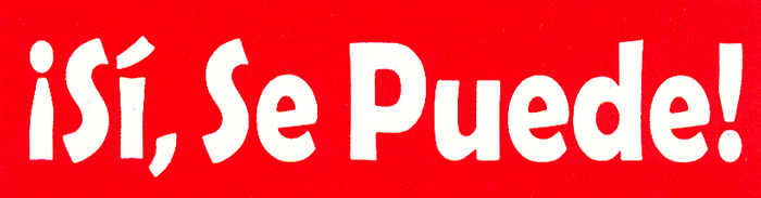 Si Se Puede Red Small Bumper Sticker Decal 5 5 Quot X 1 5