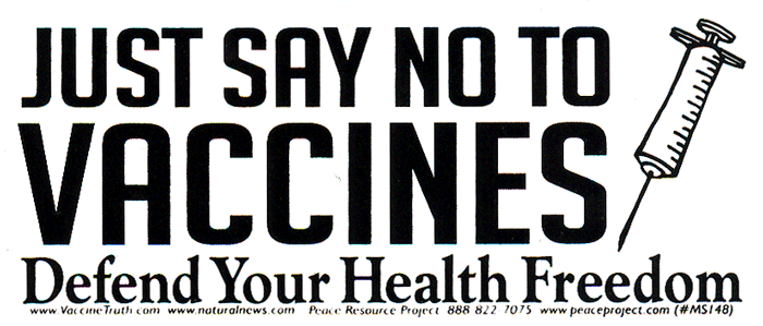 Just Say No To Vaccines Defend Your Health Freedom