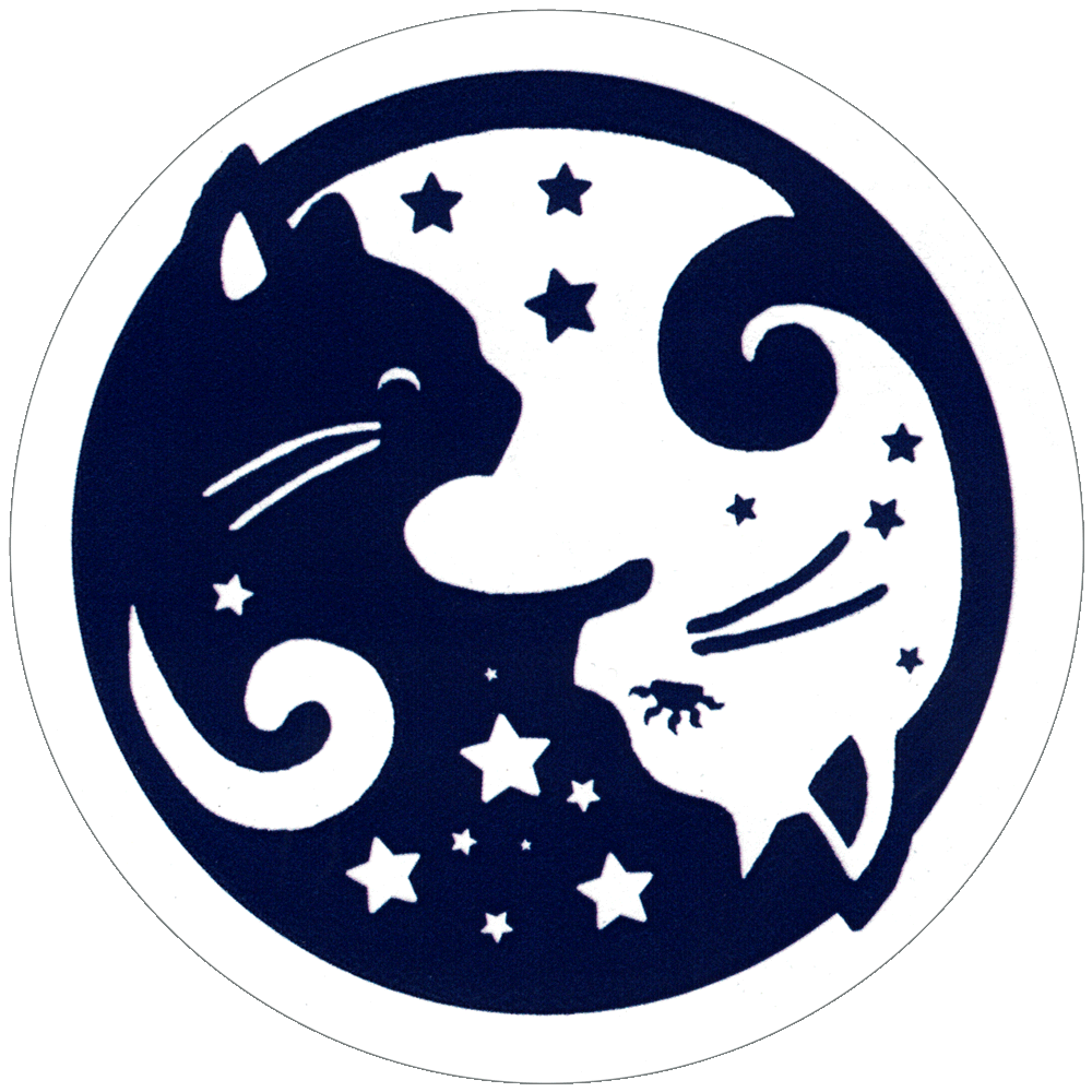 Starry Yin Yang Cats Small Bumper Sticker Decal 3 25
