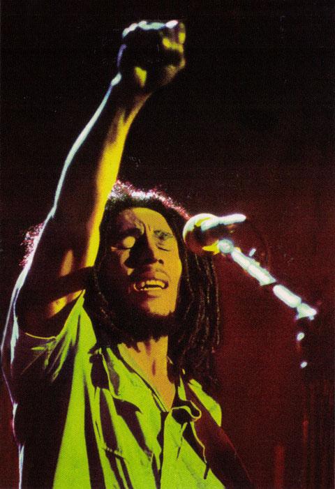 Bob Marley Fist Salute Postcard Peace Resource Project