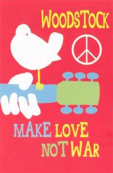 Woodstock Make Love Not War Postcard Peace Resource