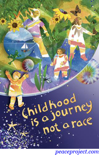 Childhood Is A Journey Not A Race Postcard Peace