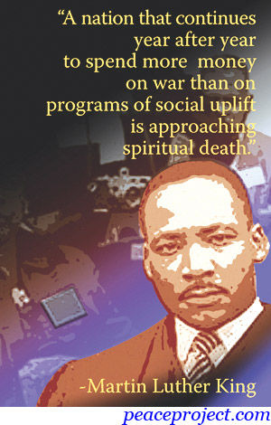Martin Luther King Jr Quote On Us Budget Postcard