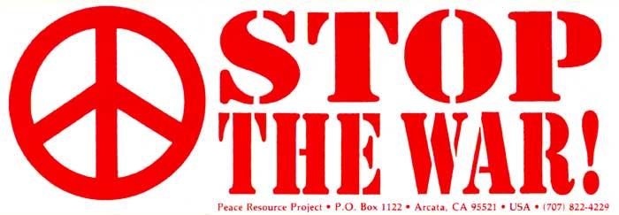 stop the war   decal  9 u0026quot  x 3 u0026quot