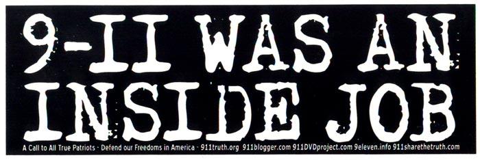 9 11 Was An Inside Job Bumper Sticker Decal 8 5 Quot X 2