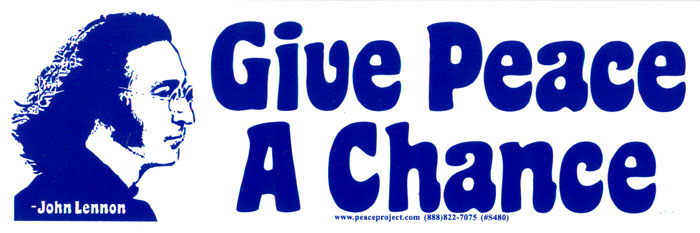 Give peace a chance john lennon bumper sticker decal 8 x 2 75