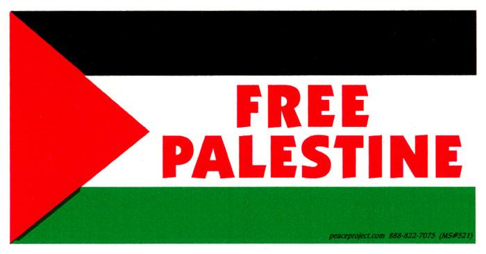 free palestine   decal  5 75 u0026quot  x 3