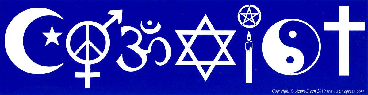 Coexist Bumper Sticker Decal 11 5 Quot X 3 Quot Peace