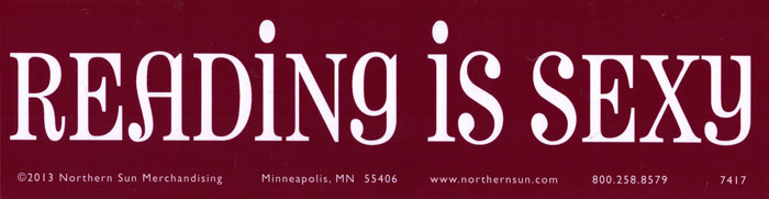Reading is sexy bumper sticker decal 11 5 x 3