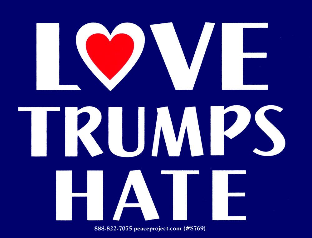 Love Trumps Hate Bumper Sticker Decal 4 5 Quot X 3 5