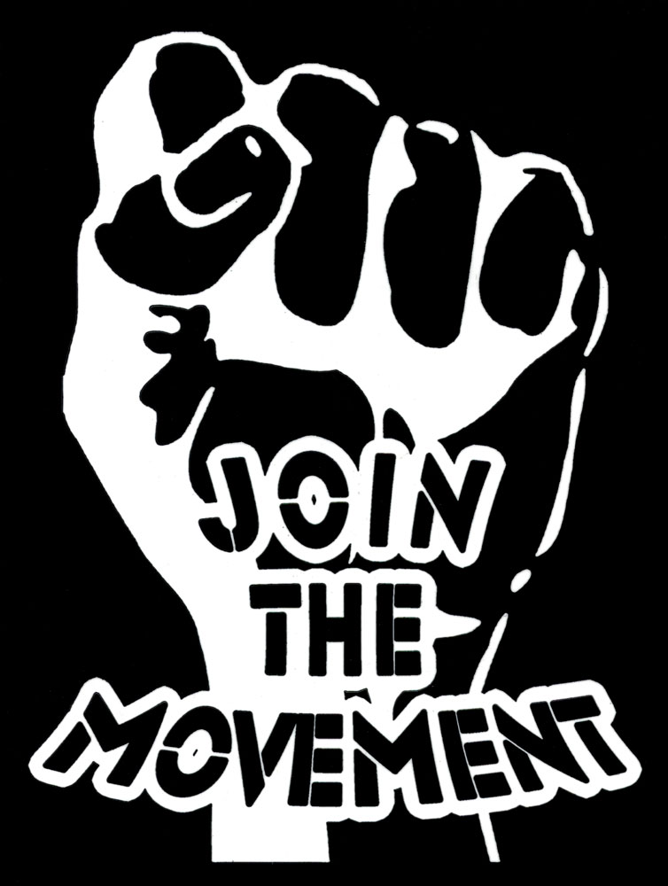 Join The Movement Bumper Sticker Decal 3 75 Quot X 5