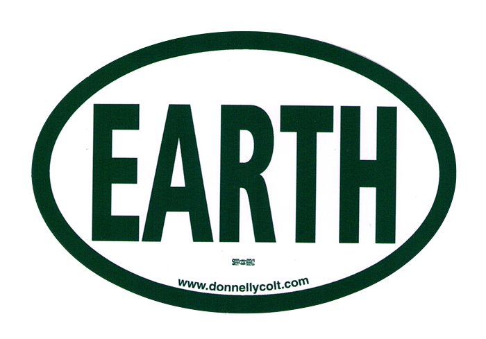 Earth bumper sticker decal 6