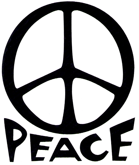 Peace Sign With The Word Quot Peace Quot Vinyl Cutout 4 Quot X 5