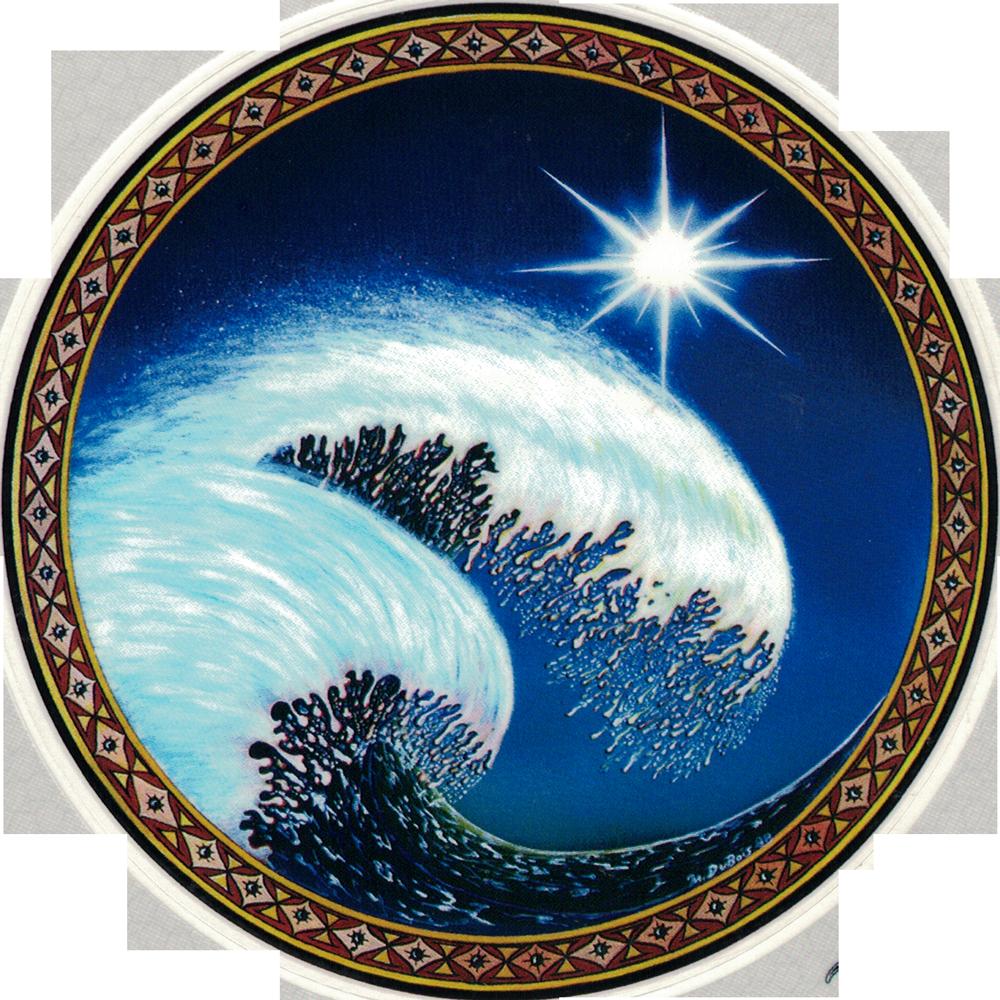 Wave Window Sticker Decal 4 5 Quot Circular Peace