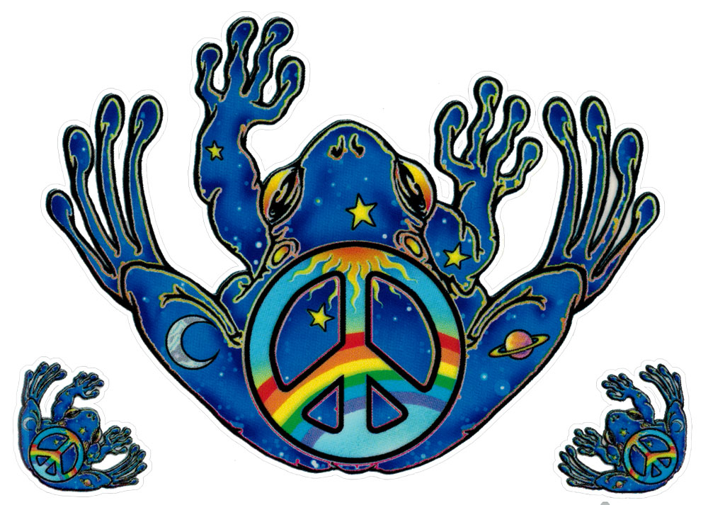 Peace Frog Window Sticker Decal 5 Quot X 4 Quot Plus Two
