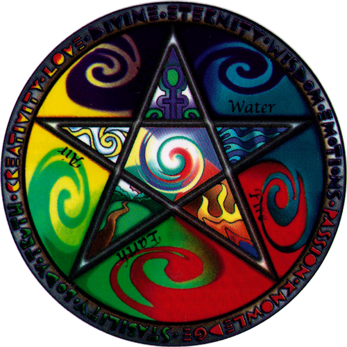 Elements Pentagram Window Sticker Peace Resource Project