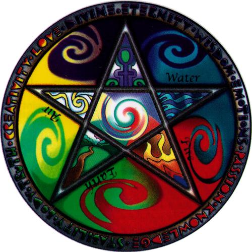 Elements Pentagram Window Sticker Peace Resource Project