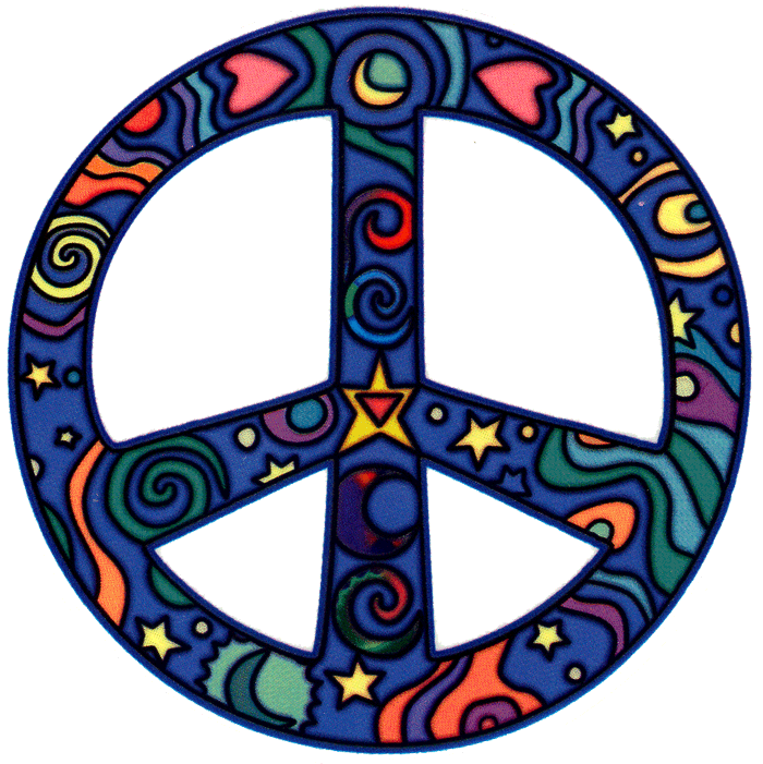 Cosmo Peace Sign Window Sticker Peace Resource Project