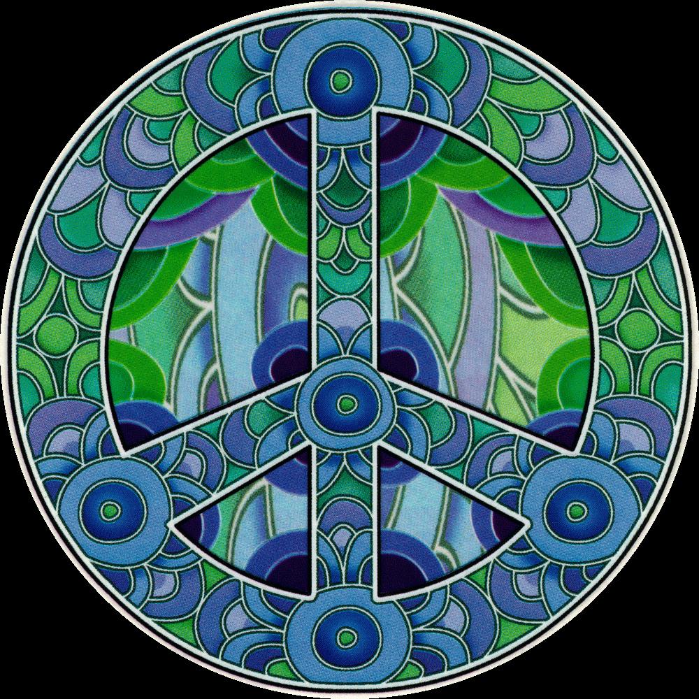 purple peace sign   decal  4 25 u0026quot  x 4 25