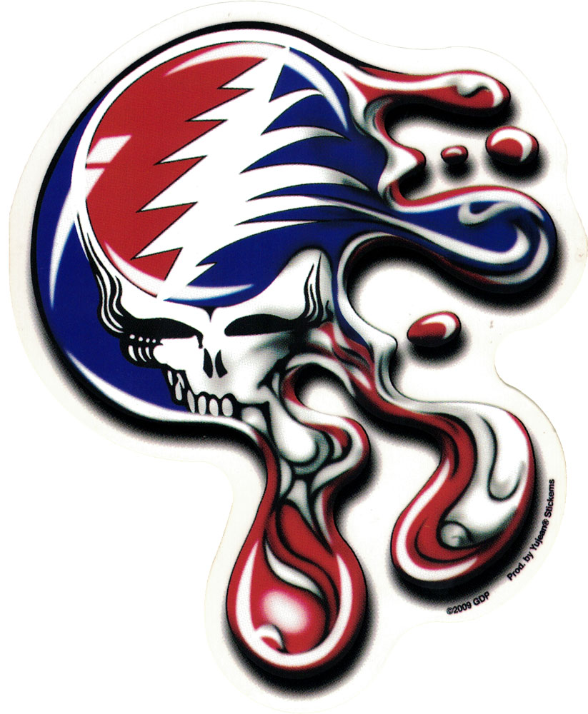 Grateful Dead Melt Your Face Window Sticker Decal 5