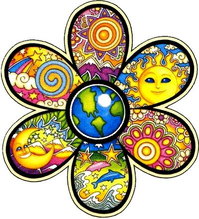 Dan Morris Earth Flower Window Sticker Peace Resource