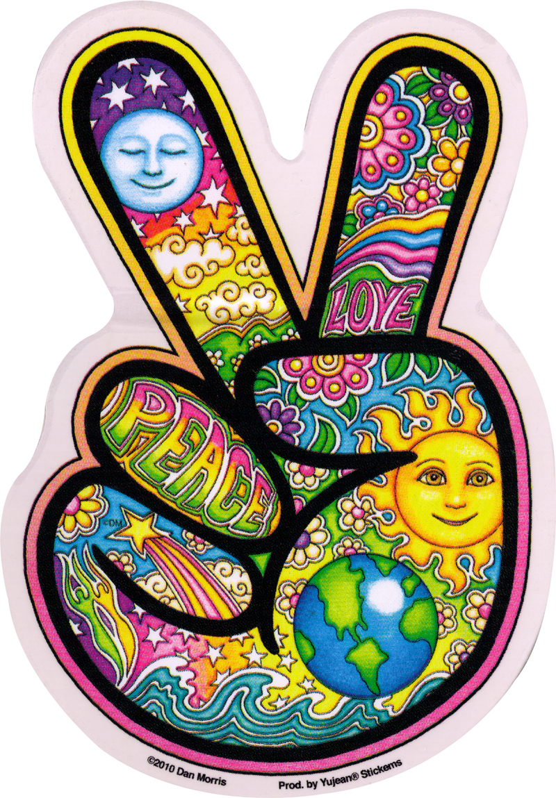 Peace Hand Window Sticker Decal 4 Quot X 6 Quot Peace