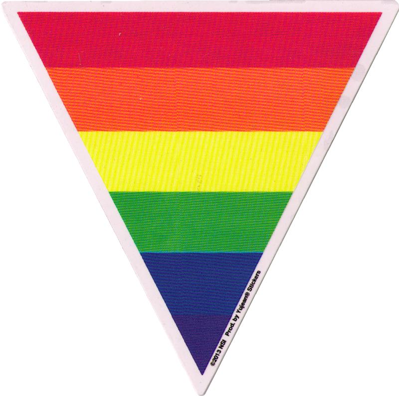 Triangle Rainbow Window Sticker 5 Quot X 6 Quot Peace