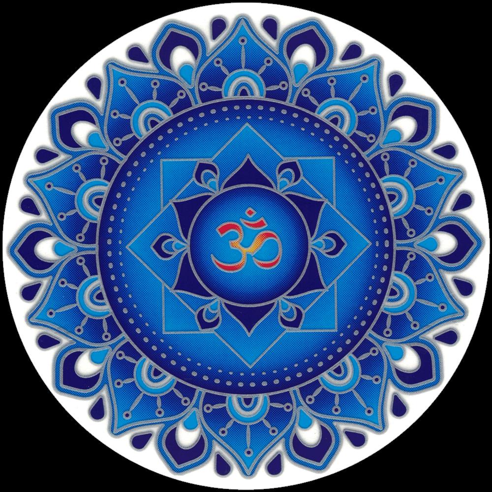 Blue Om Mandala Window Sticker Decal 5 5 Quot Circular