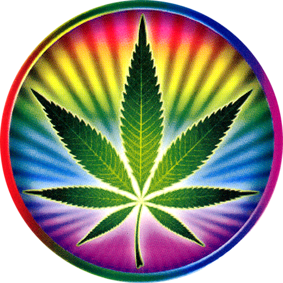 Psychedelic Pot Leaf Window Sticker Peace Resource Project