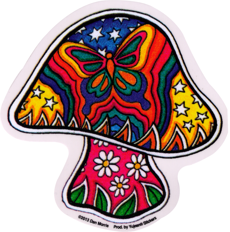 Butterfly Mushroom Window Sticker Decal 4 Quot X 4