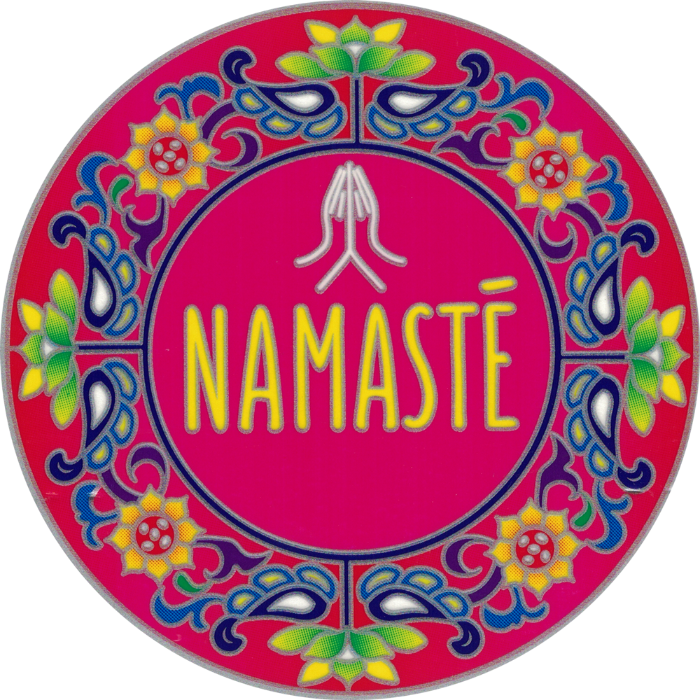 Namaste Mandala Window Sticker Decal 5 5 Quot Circular