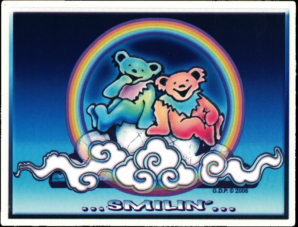 Grateful Dead Bears Smilin' - Window Sticker / Decal (6