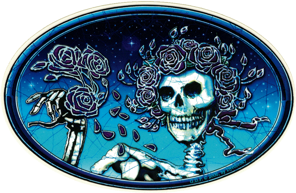 grateful dead skull and roses   decal  6