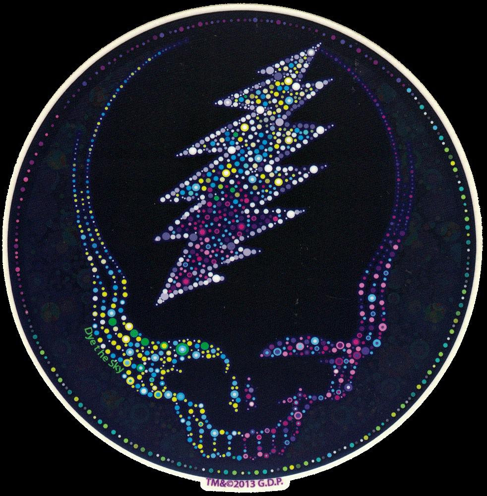 Grateful Dead Sparkling Steal Your Face Window Sticker
