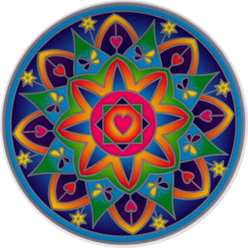 Love Light Mandala Window Sticker Decal 5 5 Quot Circular
