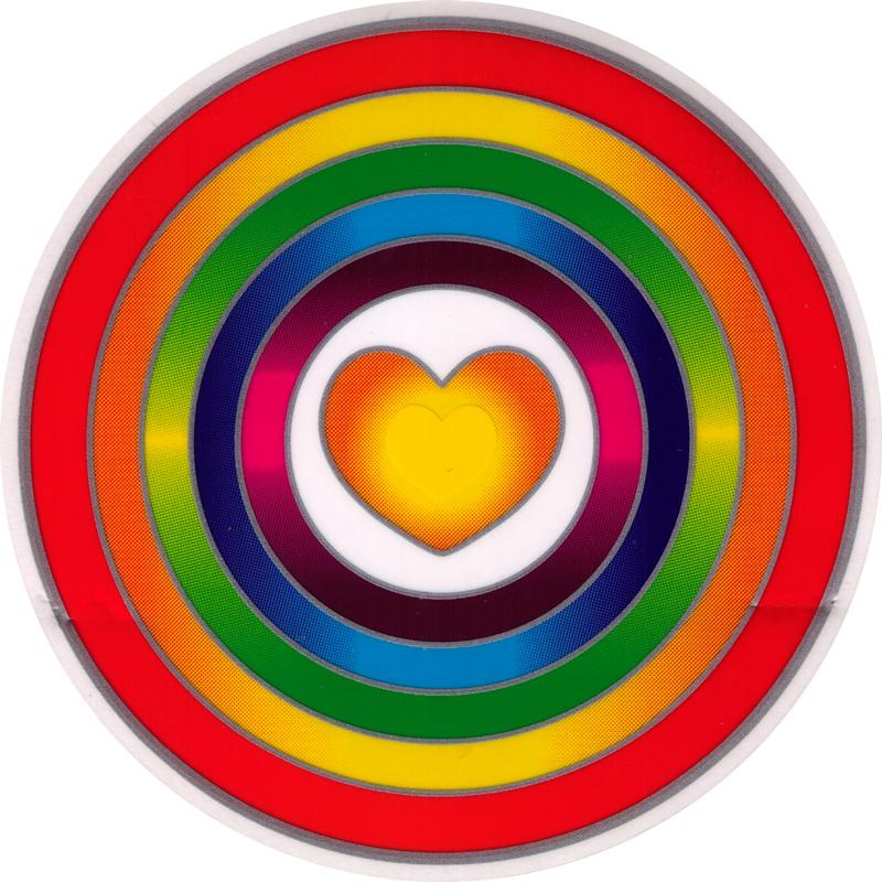 Rainbow Heart Window Sticker Decal 5 5 Quot Circular